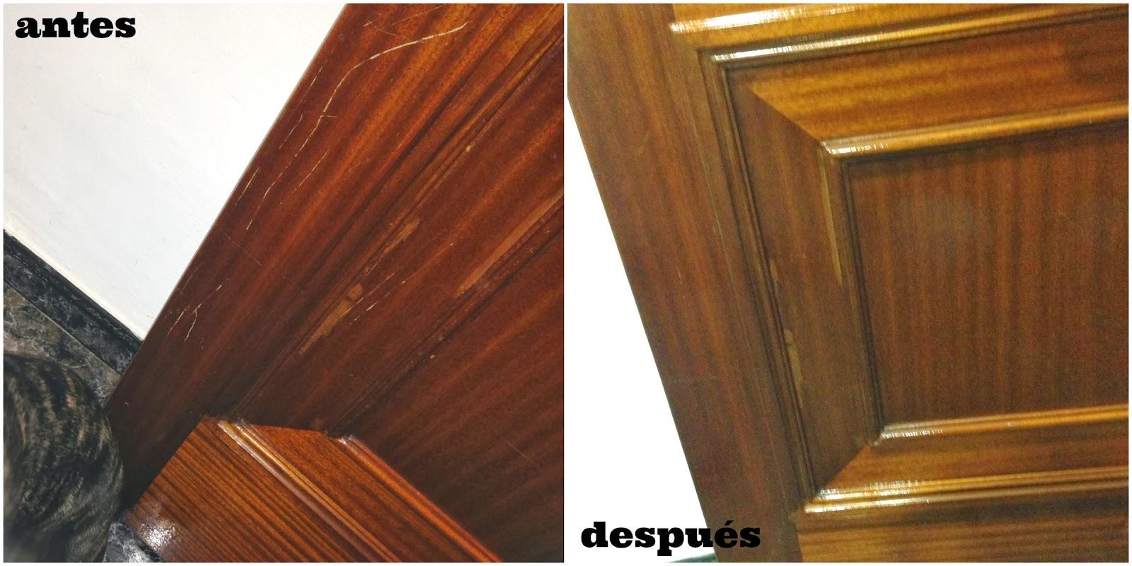 El blog de lorenna c mo borrar los ara azos en la madera - Como arreglar puertas de madera rayadas ...