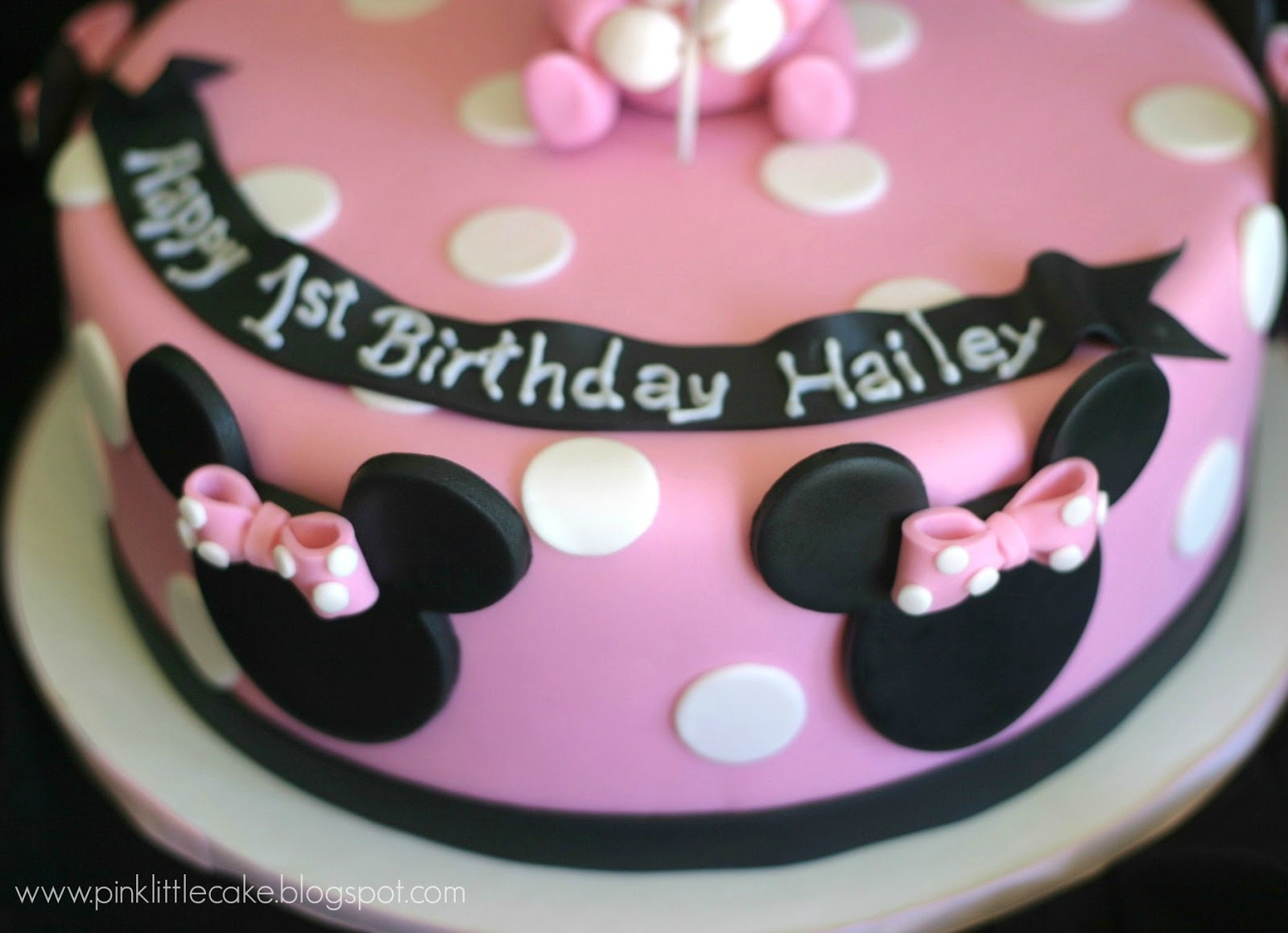 Pink Little Cake 1st Birthday Baby Minnie Mouse Cake