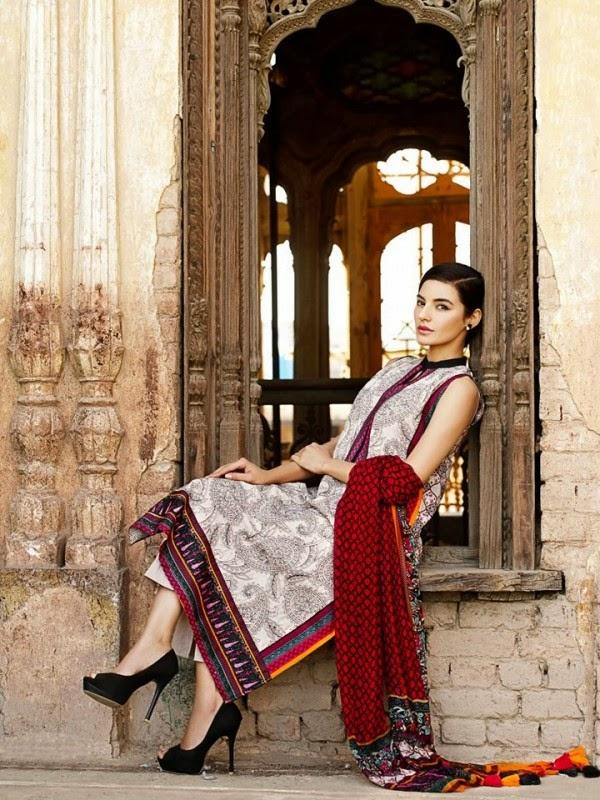 New Khaadi Spring Formal Wear Dresses 2015 1