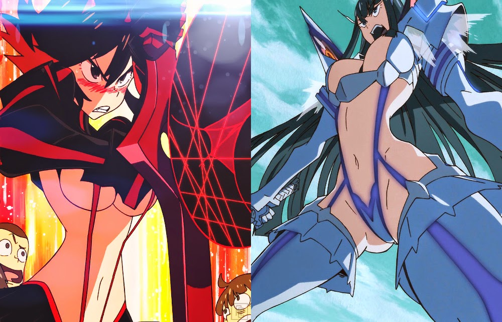 Additionally Ryuko Is Sexualized Outside Of Wearing Senketsu Befriends A Girl And Fellow Classmate Named Mako She Begins Living With