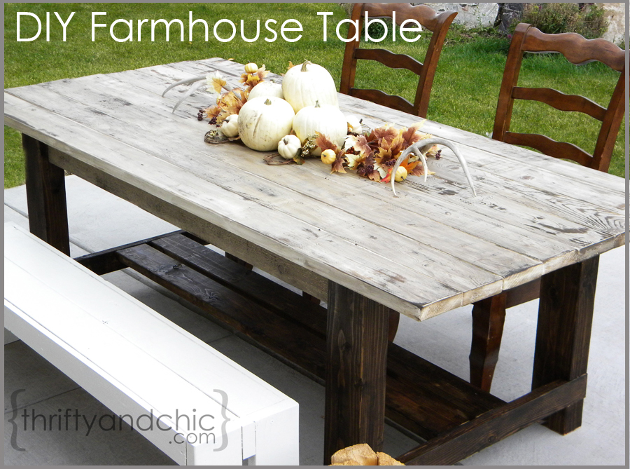 Thrifty and chic diy projects and home decor for Diy garden table designs