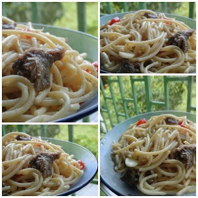 My true breakfast ... Spaghetti Oglio Olio yang mudah dan ringkas cara Mrs Pip