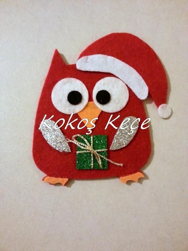Noel Baba Baykuş Magnet