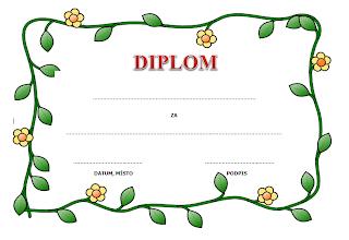 Diplom pro děti k vytisknutí zdarma