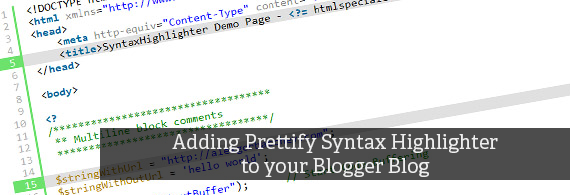 Prettify syntax highlighter blogger blog