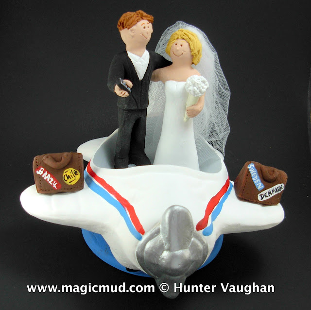 airplane wedding cake toppe