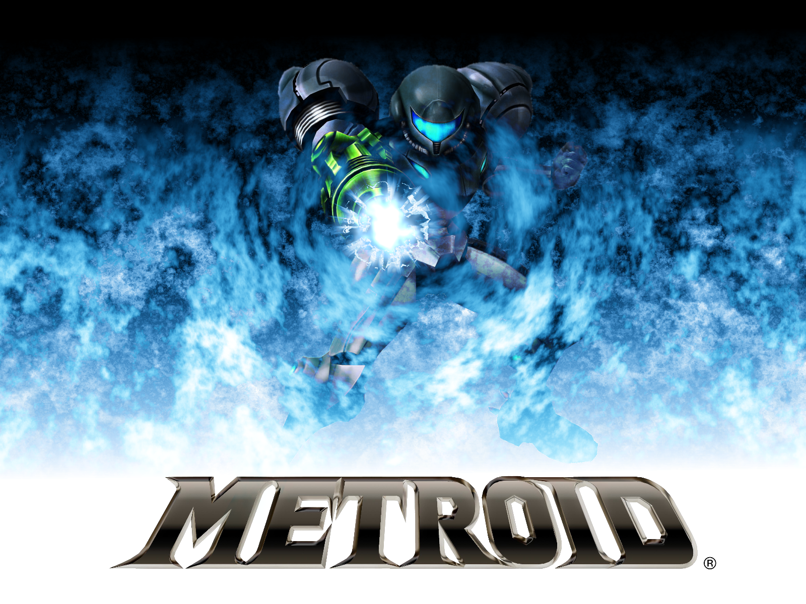Blue Flames Metroid Wallpaper By Kironohasama on atom wallpaper