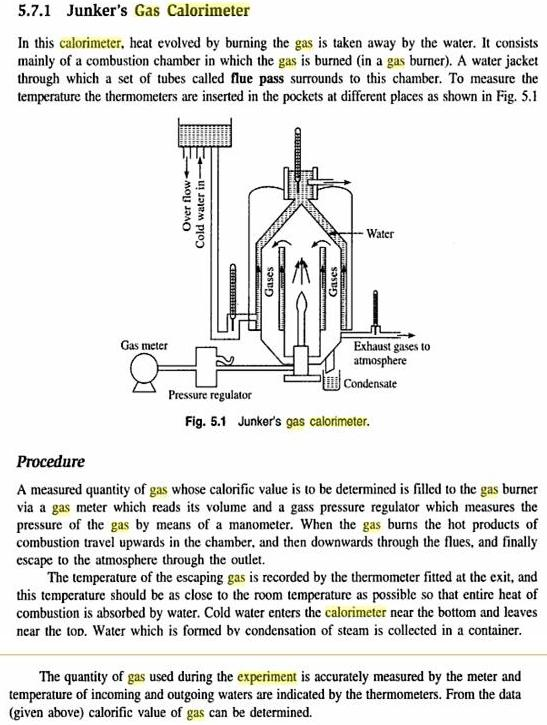Engineering Junkers Gas Calorimeter