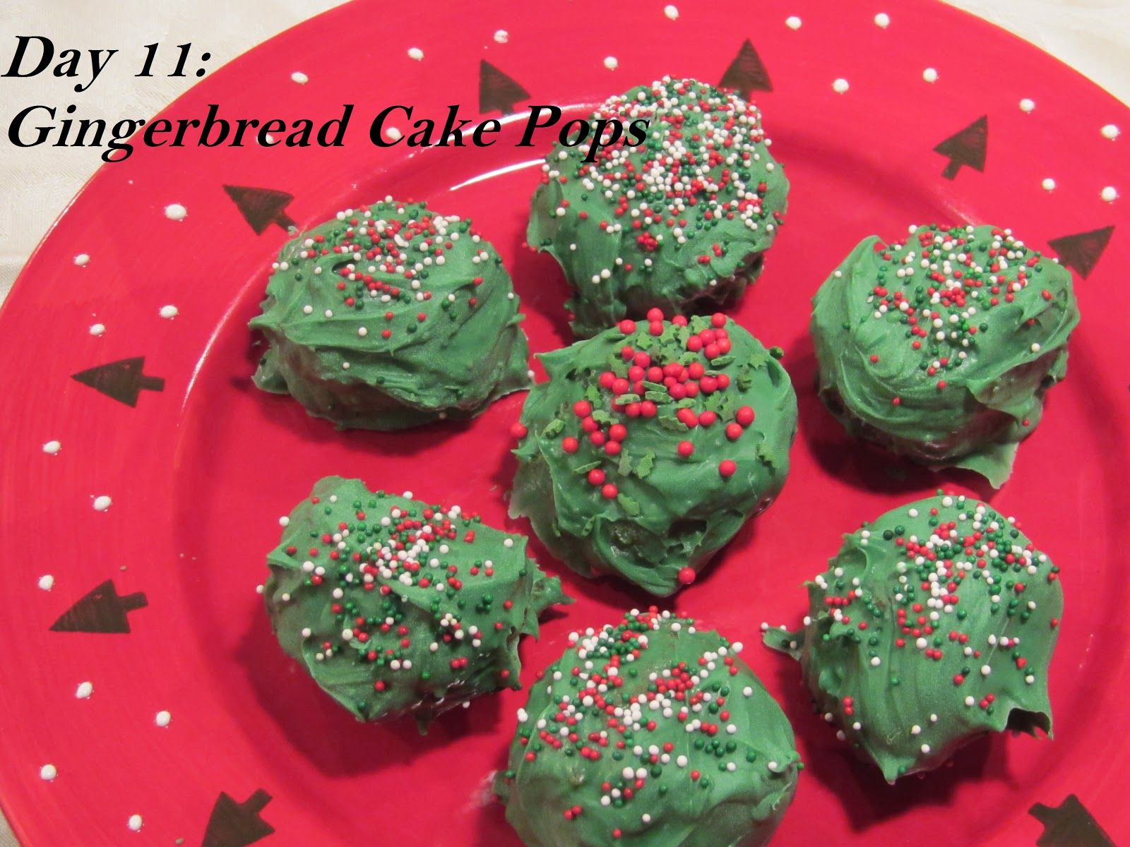 ... days of christmas indulgences is for gingerbread cake pops cake pops