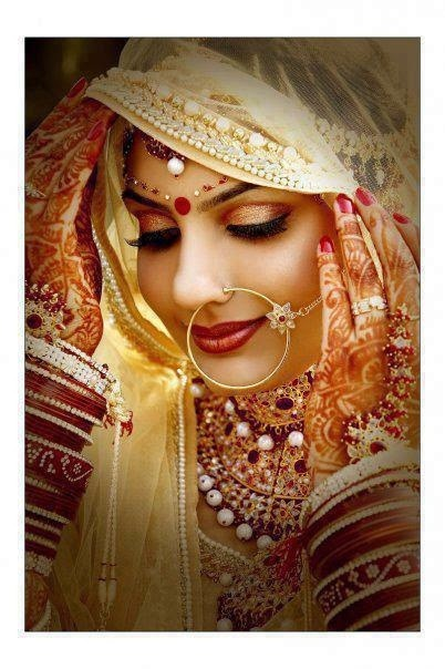 new bridal jhumka and nose ring 2015