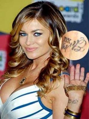 arm celebrity tattoos