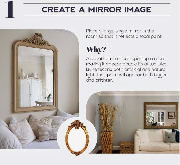 The best way to make small rooms look bigger is to create the illusion of space. How do we do that ?
