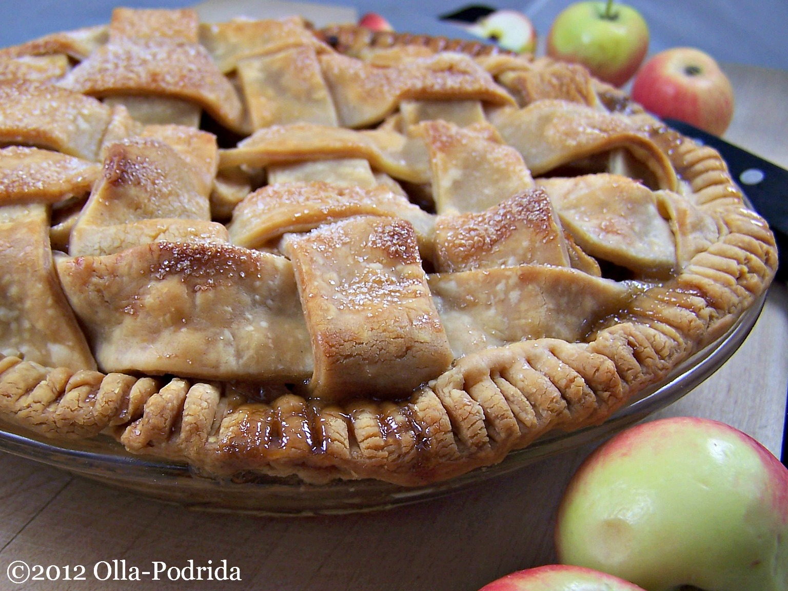 Olla-Podrida: Lattice Apple Pie with Mexican Brown Sugar