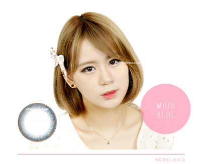 Miuu Blue Contact Lenses at ohmylens.com