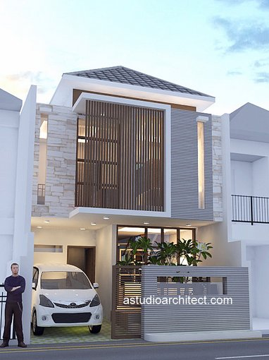A Rumah Lahan Mungil 6x12m Dengan 3 Kamar Tidur Desain Siap Pakai