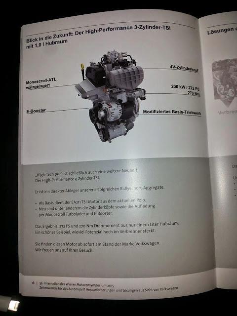 новый 272-сильный 1-литровый двигатель от Volkswagen