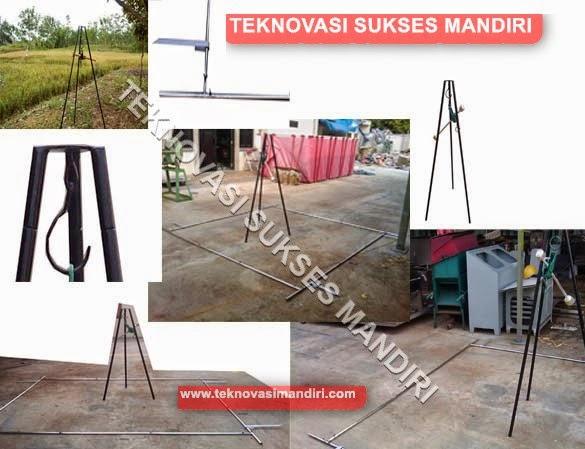 peralatan untuk survey hasil panen padi