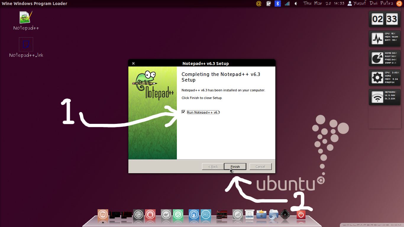 Download and Install Notepad++ 6.3 In Ubuntu 12.04 LTS
