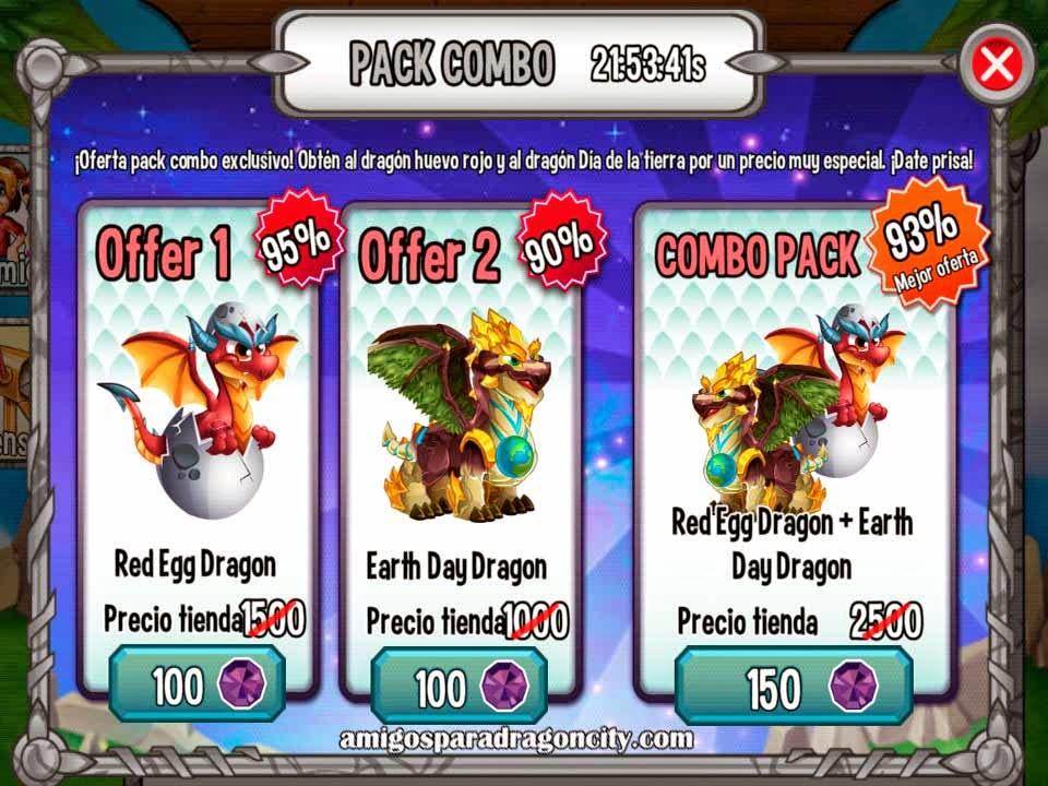 imagen de la oferta especial del dragon dia de la tierra y dragon huevo rojo