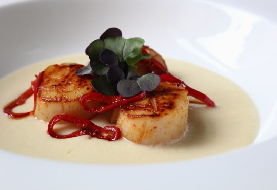 """... Scallops on Corn """"Cream"""" – Not to Sound Corny, But This is Summ..."""