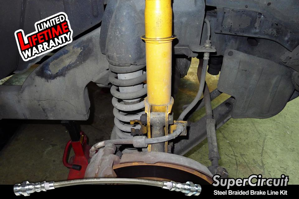 Steel Braided Brake Lines Installed : Supercircuit steel braided brake lines