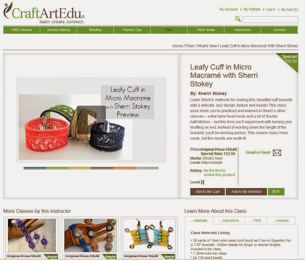 Leafy Cuff in Micro Macrame online class by Sherri Stokey screenshot