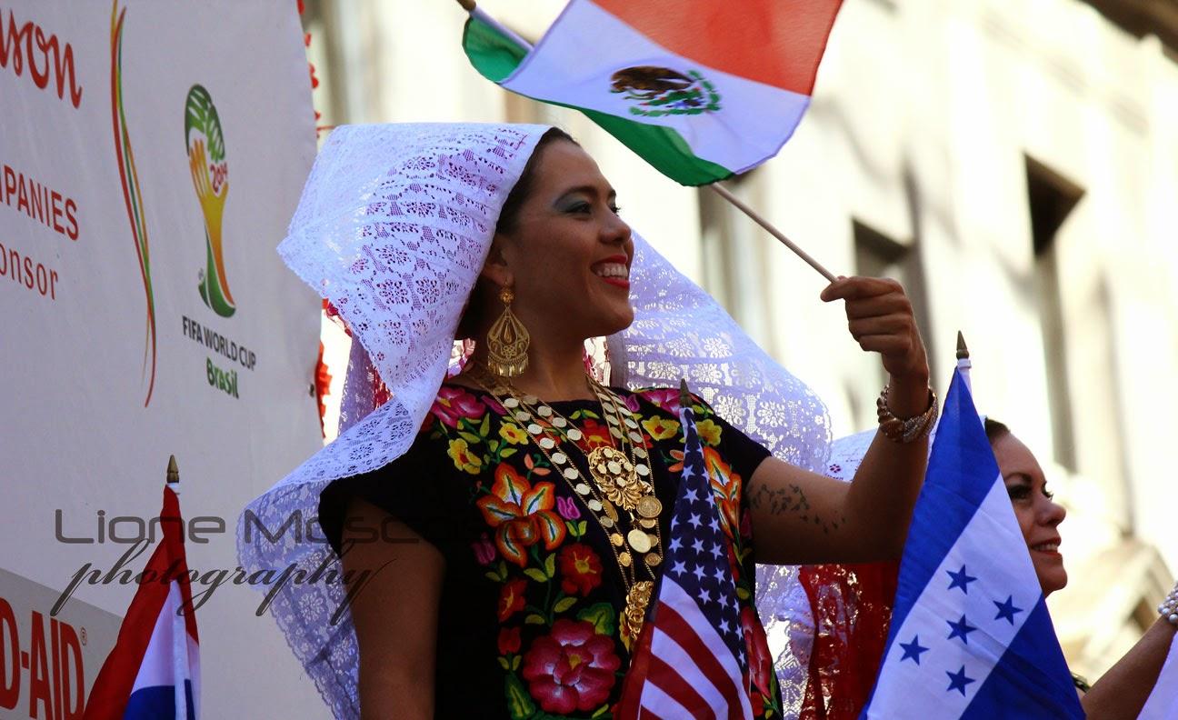 Desfile de la hispanidad de Manhattan, Nueva York 2014 - Mexica cultura