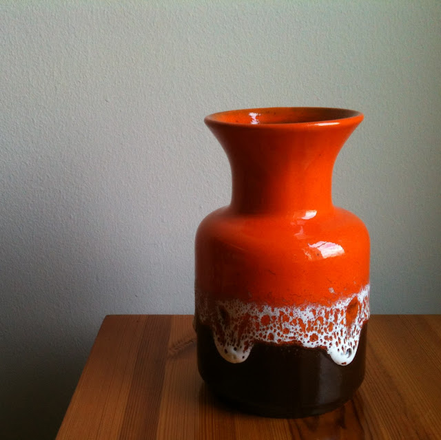 Jasba fat lava vase N0021018 orange west german germany