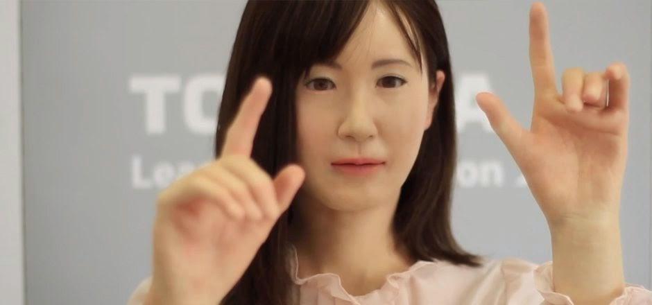 Toshiba,robot Aiko Chihara