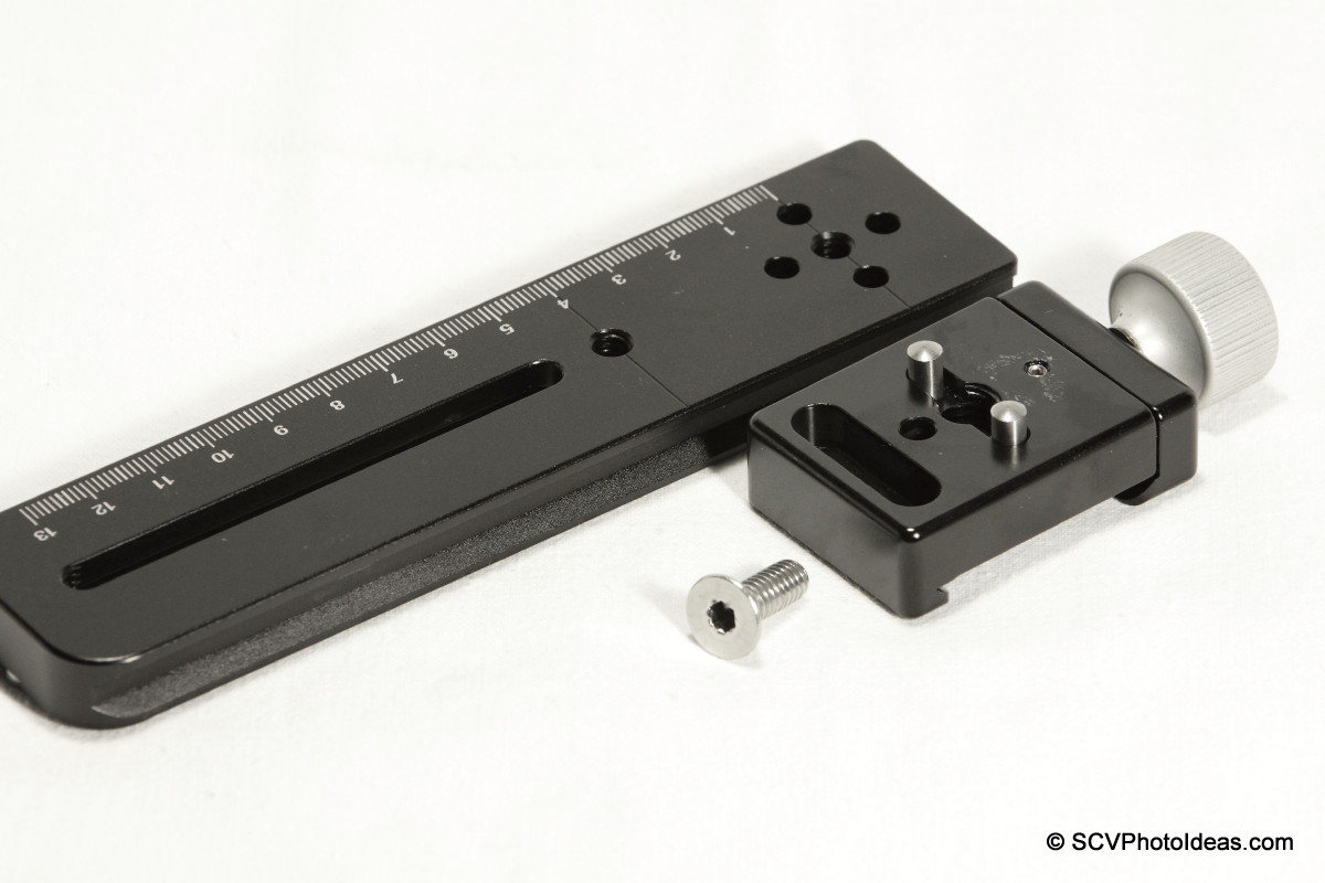 Hejnar Photo E031 Nodal rail dowel pins on F012 QR clamp