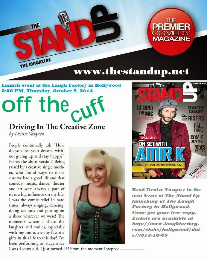 Denise Vasquez Featured In Oct 2014 Issue of The Stand Up Magazine