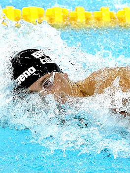 No GP de Michigan, Cielo vence duelo com Michael Phelps nos 100m livre
