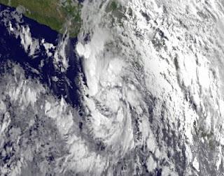 Tropischer Sturm (pot. Hurrikan) CARLOTTA zieht wahrscheinlich nach Acapulco, Carlotta, Acapulco, Oaxaca, Guerrero, Mexiko, aktuell, Satellitenbild Satellitenbilder, Hurrikansaison 2012, 2012, Juni, Pazifische Hurrikansaison, Vorhersage Forecast Prognose,