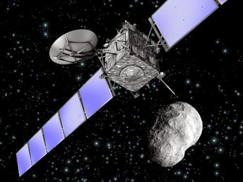 nave Rosetta junto al Cometa 67P/Churyumov-Gerasimenko