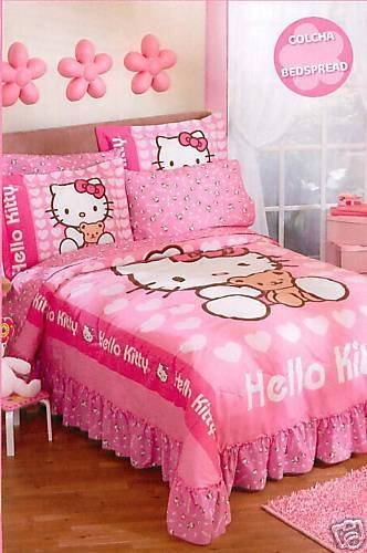 Home Designs and Deco: Hello Kity Bedroom Decorating Ideas
