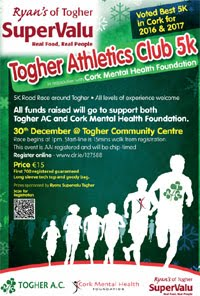 Togher 5k in Cork City... Sun 30th Dec 2018
