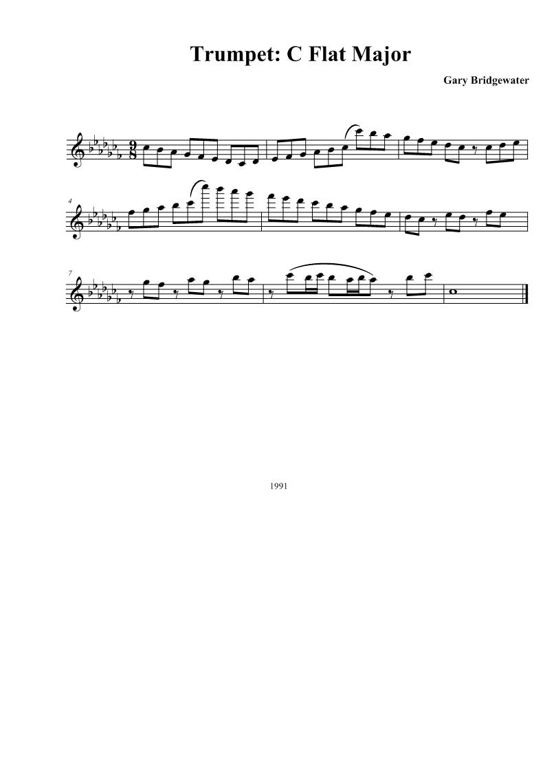 Trumpet: Trumpet: C Flat Major C Flat Major Scale