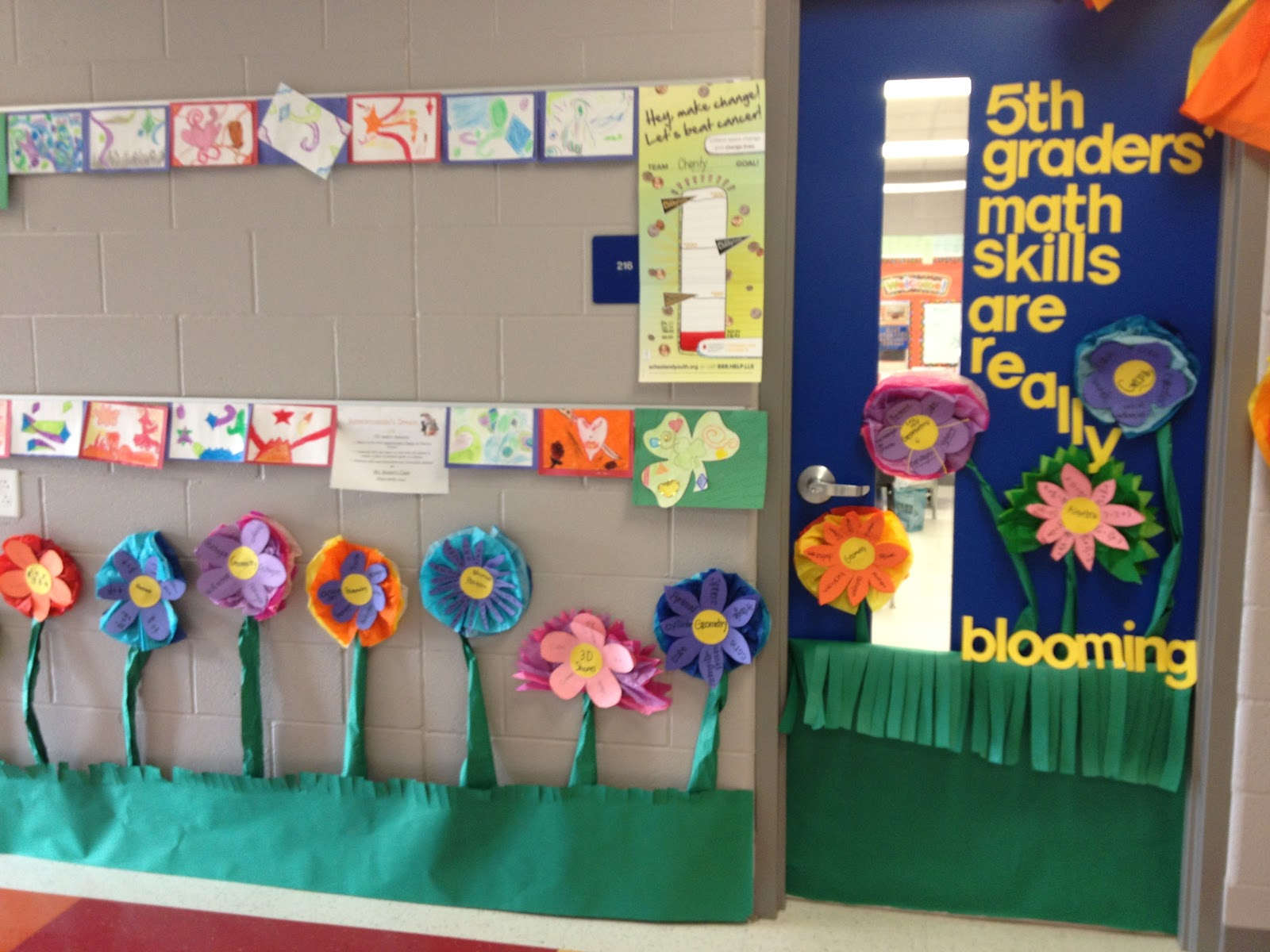 Classroom door decor ideas for Classroom mural ideas