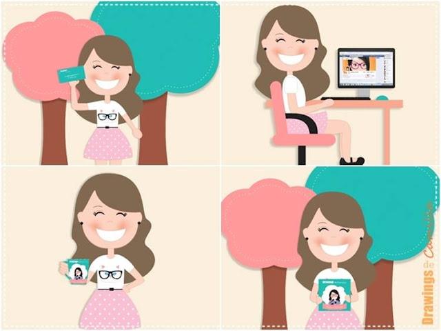 Dolls para blog illustrações para blog