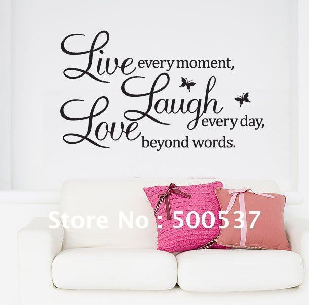 Live Laugh Love Wall Quotes Decor
