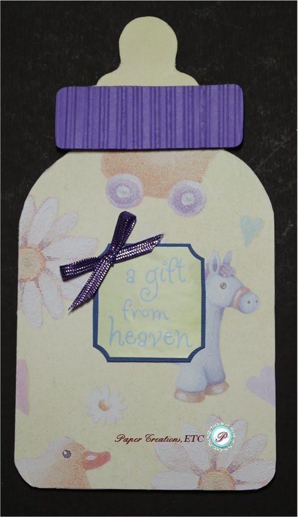 paper creations  etc  baby bottle card