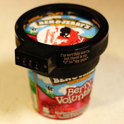 Ice-cream lock. Cadeado para o gelado. Original gift