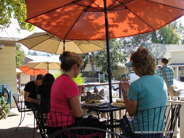 patio at Broad Street Bistro in Nevada City, California