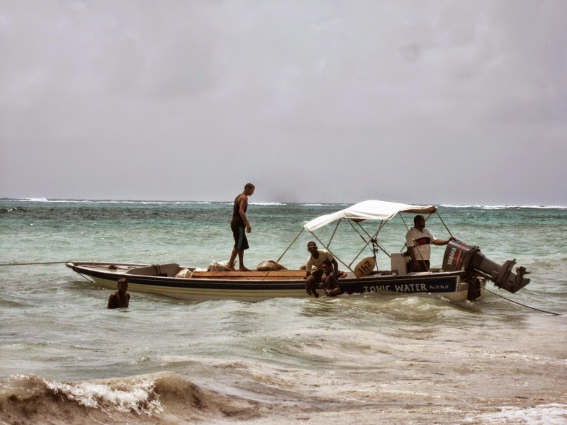 Pescadores en Little Corn Island