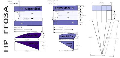 AutoCAD pattern for flowform kite, HP FF03A