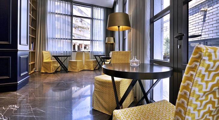 Hotel room furniture in Hotel Indigo in Tel Aviv