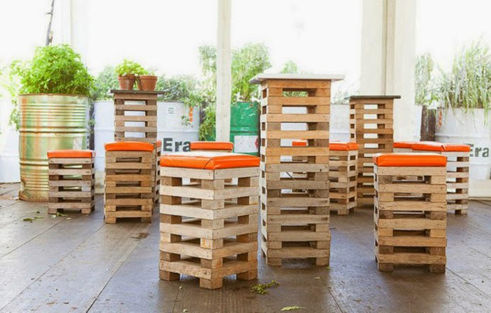 Muebles y accesorios con palets reciclados - Palet reciclado muebles ...