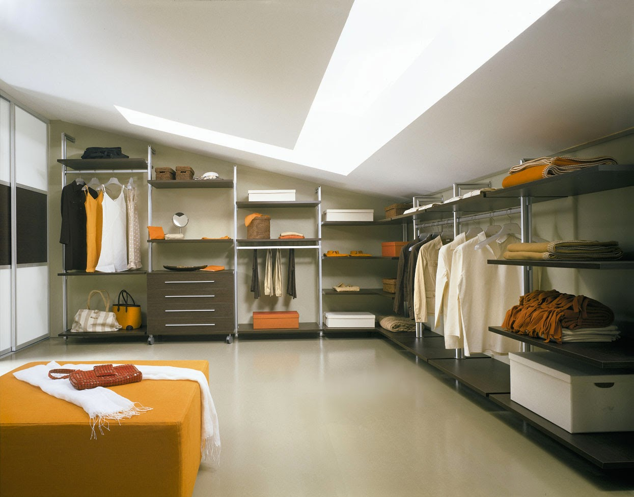 Large Wardrobe Interior with Custom Cabinet