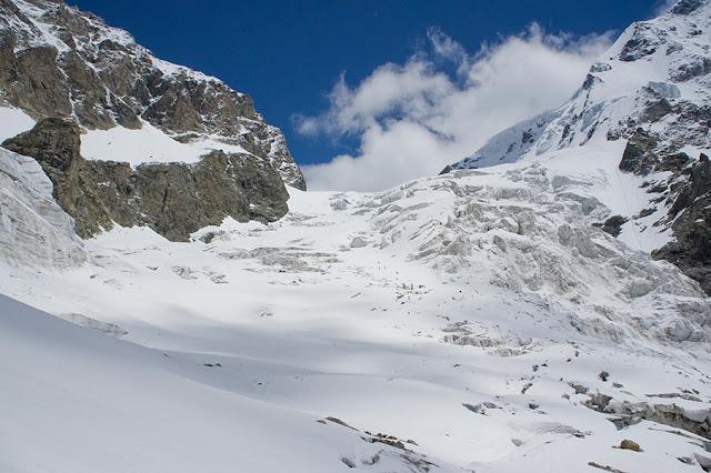 Uszbiański lodowiec - Górna Swanetia