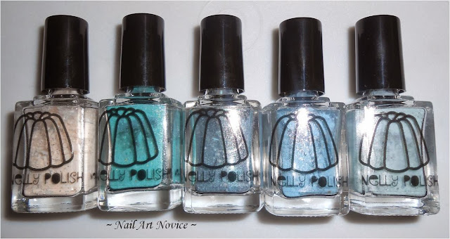 Dry Nelly Polishes-Gumpas, Jonah's Green, Teal Holo, Bodmin, Autumn Teal